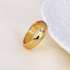 Apzeltīts laulības gredzens ar 18 karātu zelta pārklājumu (platums 6 mm)