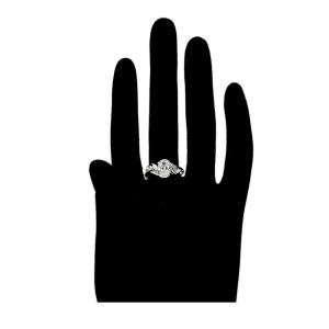 Elegants gredzens ar baltiem cirkoniem, izmērs 7US, rodija pārklājums