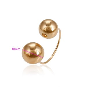 Moderns un stilīgs gredzens,bezizmēra, 18 karātu zelta pārklājums