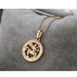Apzeltīts kulons - zodiaka zīme, zelta pārklājums 18 karāti