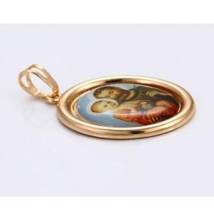 Kulons ar svētbildi, 18 karātu zelta pārklājums