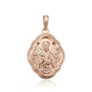 Kulons ar svētbildi, rozā zelta pārklājums (bez ķēdītes)
