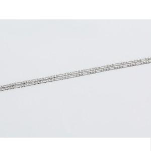 Stilīga ķēde, oriģinalais pinums, rodija pārklājums, garums 55 cm