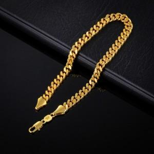 Klasiska pinuma rokassprādze, zelta pārklājums 18 karāti, garums 22 cm. ATLAIDE 40% (cena ar atlaidi-8.34€)