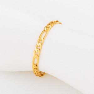 Figaro pinuma rokassprādze, zelta pārklājums, garums 17 cm. ATLAIDE 40% (cena ar atlaidi-4.74€)