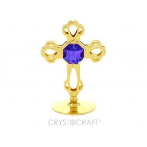 Krusts ar SWAROVSKI  violetu kristālu