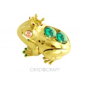Varde ar SWAROVSKI kristāliem, uz pamatnes, zelta  pārklājums. Izmērs 4 х 5 cm.