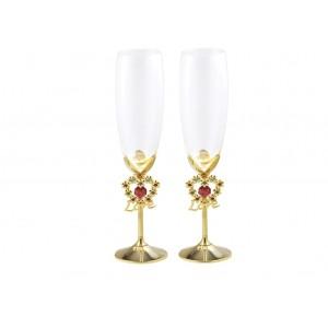 ...Šampanieša glāzes ar Swarovski kristāliem, priekš kāzam un svinībam. Garums 24cm