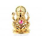 Ganēša -labklājības un gudrības Dievs, zelts pārklājums, izmērs 7*10.5 cm