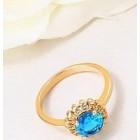Apzeltīts gredzens ar baltiem cirkoniem