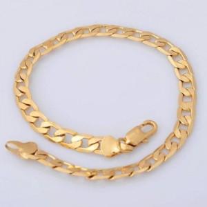 Klasiska pinuma apzeltīta rokassprādze, zelta pārklājums 18 karāti, garums 21 cm
