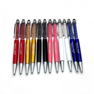 Swarovski pildspalva ar Jūsu logo uz tas, ar Swarovski kristāliem. Minimāla partija 100 gabali!