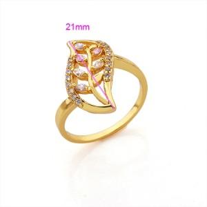Elegants apzeltīts gredzens lapas formā pārklāts ar 24k zeltu. ATLAIDE 40% (cena ar atlaidi-5.94€)