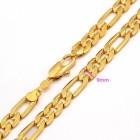 Apzeltīta ķēdīte ar 24 karātu zelta pārklājumu, garums 60 cm. ATLAIDE 30% (cena ar atlaidi-15.33€)