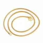 Apzeltīta ķēdīte ar 24 karātu zelta pārklājumu, garums 45 cm. ATLAIDE 30% (cena ar atlaidi-11.13€)