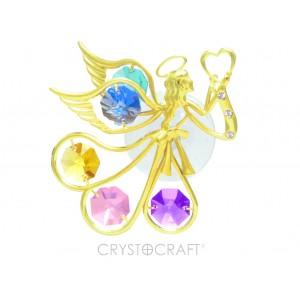 Enģelis ar krāsainiem  SWAROVSKI kristāliem, logu rotājums