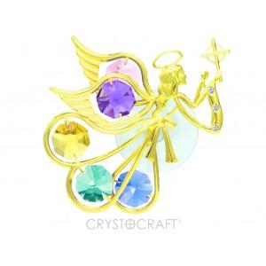 Enģelis ar krustu rokās, krāsainie SWAROVSKI kristāli