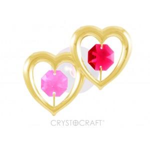 Divas sirdis, ar SWAROVSKI kristāliem