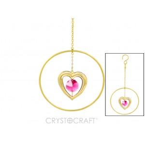 Sirds iekārta ķēdītē aplī, ar SWAROVSKI kristāliem