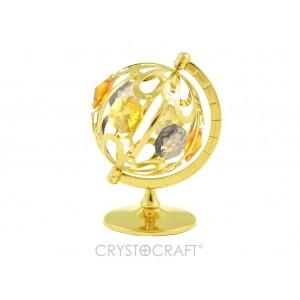 Zemeslode, globuss ar SWAROVSKI kristāliem