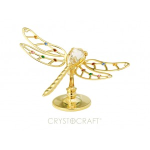 Veiksmes simbols - Spāre, ar  krāsainiem SWAROVSKI kristāliem, uz pamatnes