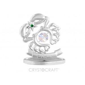 Zodiaka zīme VĒZIS ar SWAROVSKI kristāliem, hroma pārklājums. Dāvanu iepakojumā. Izmērs 7*6*3 cm.
