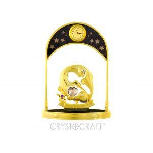 Pulksteņi ar zodiaka zīmi ZIVIS, ar SWAROVSKI kristāliem, zelta pārklājums. Izmērs 10*4,5*14 cm.