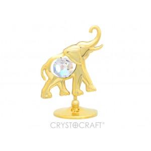 Zilonis ar SWAROVSKI kristāliem, uz pamatnes, zelta vai sudraba pārklājums. Dāvanu iepakojumā. Izmērs 5 x 5 cm.