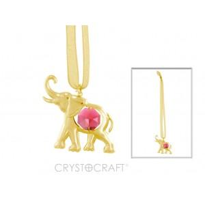 Zilonis iekārts lentītē, ar SWAROVSKI kristāliem, zelta pārklājums 24 karāti. Izmērs 5*5 cm. Lielisks egles rotājums. dekors mašīnā.